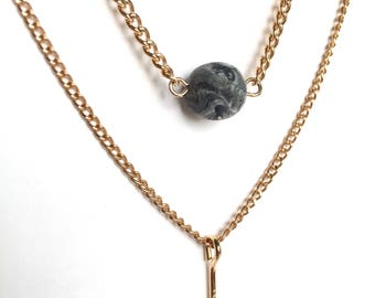 Gold chain choker necklace, bridesmaid gift, college graduation