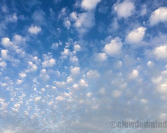 Cloud photography. 12x18 color cloudscape. Nature photography. Clouds and sky.