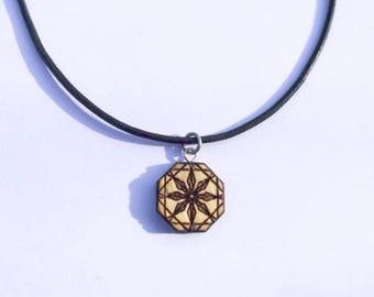 Choker necklace mandala star