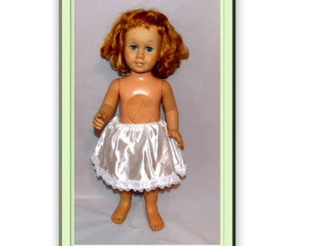 "Bare Necessities - Old Fashioned Slip for  20"" & 22"" tall dolls Like Talking Chatty Cathy.   Vintage Doll Underwear"