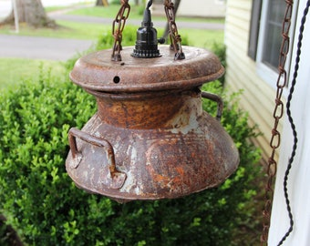 Antique Milk Canister Light
