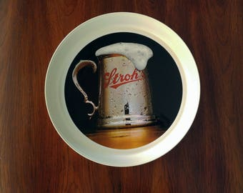 "Vintage Stroh's Beer ThermoServ 13"" Serving Tray"