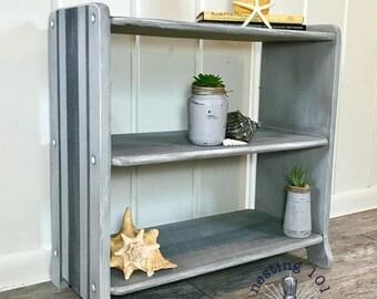 Weathered Gray Bookcase // Storage // Shelves // Organization