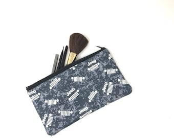 Jeep Cosmetic Bag | Makeup Brush Holder | Brush Makeup Bag | Zipper Pouch | Makeup Bag | Pencil Case | Makeup Organizer | Best Makeup Bag