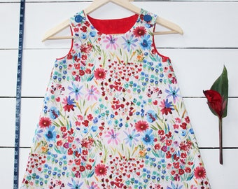 "Floral ""Among the Wildflowers"" Girls A-Line Dress"
