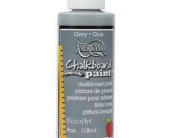 Americana Slate Gray Grey Blackboard Chalkboard Paint 118ml (4oz) - DS122C