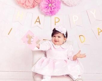 Pinky Long Sleeve Birthday Dress