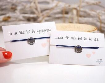 Friendship bracelet set ~ engraving ~ 925 Silver