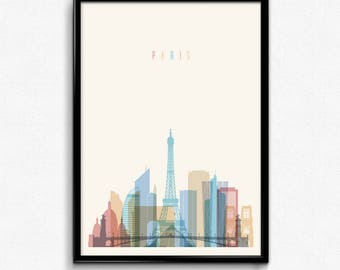 Paris travel canvas art print poster