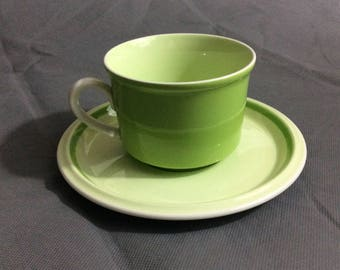 Vintage Mikasa Mug w/ Saucer for Tea and Coffee Needcraft #c6400 Green