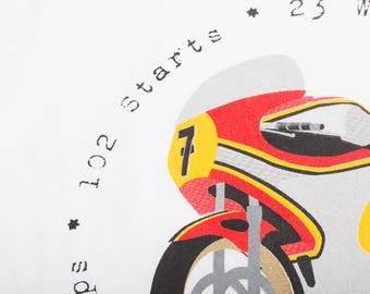 FLASH SALE!! Barry Sheene T-Shirt, Men's T-Shirt, Motorcycle T-Shirt, MotoGP T-Shirt