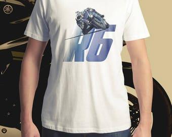 Yamaha R6 T-Shirt, Men's T-Shirt, Women's T-Shirt, MotoGP T-Shirt, Motorcycle T-Shirt, Sportbike T-Shirt
