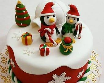 Christmas theme Penguins and Igloo