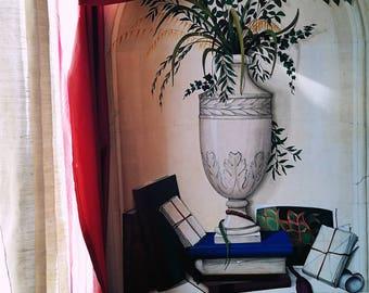 Acrilico su tela  - Trompe l'oeil - Dimensioni 100 x 70 cm