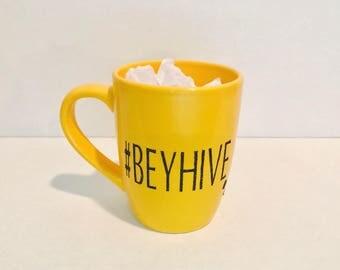 Yellow #BEYHIVE mug