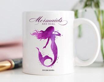 Mermaids Are Real Mug, Gift for Friend, Be a Mermaid, Nautical Princess, Siren, Girlie Mug, Mermaid Gifts, Gift for Mom, Coffee Cup