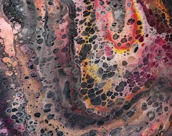 DvonG #6: Original Handmade Acrylic Pouring Painting
