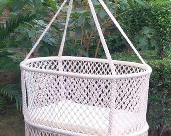 natural baby crib   hanging bassi    baby hammock   hanging cradle baby crib   etsy  rh   etsy