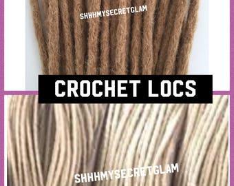 30 Artisan Handmade Dreadlocks Human Hair Dreadlocs-Afro Kinky or Crotchet