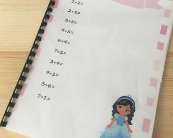 Princess maths workbook - Digital Download