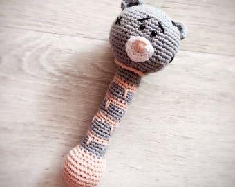 Teddy Bear baby rattle