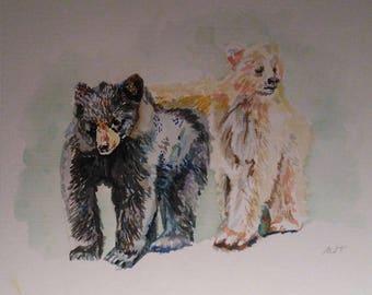 Bears in Watercolour