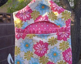 Grams Vintage Style Clothespin Bag Ginger Blossom & Pink  ET