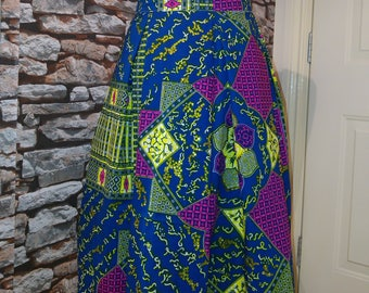 Swarovski Encrusted Ankara Midlength Skirt