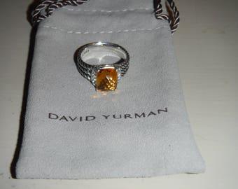 Petite Wheaton Ring with Citrine and Diamonds