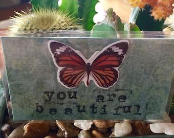 Beautiful handmade collage keepsake card