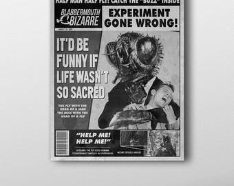 The Fly Inspired Mock Magazine Cover Art Print