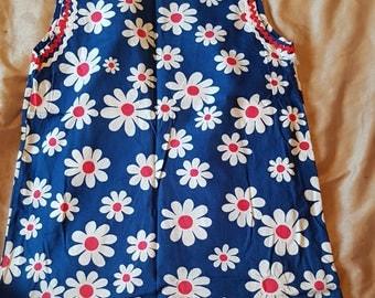 True vintage MOD 1960/70s flower dress