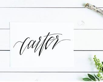 Carter | Wall Art | Printable