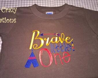 Shortalls - Brave Little One-Brown