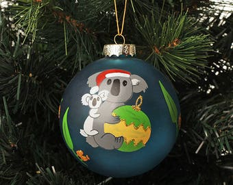 Australiana Koala Personalised Christmas Decoration