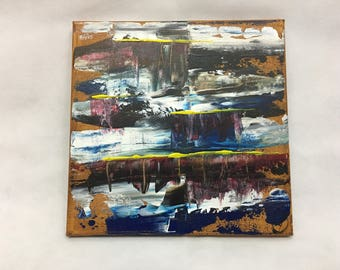 Original abstract painting || acrylic painting || 10 x 10 painting || office || home decor || grunge