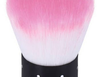 Pink Mermaid Mini Kabuki Brush with Rhinestone Handle