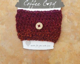 Coffee Cup Cozy - Button version