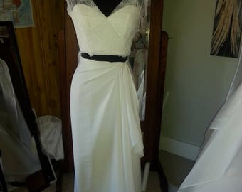 Two piece wedding gown