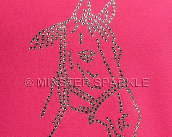 Sparkly Horses Head Embellished Top