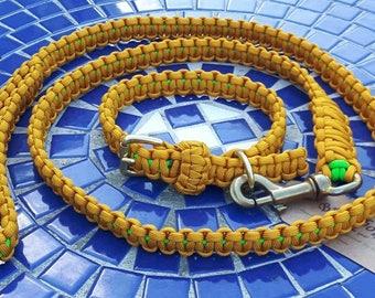 "Paracord Dog Buckle Collar & Lead/Leash.  Size: 11-12"" neck"