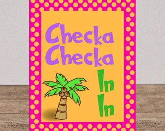 Check In Funny Library Sign Decoration