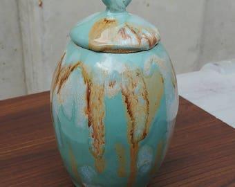 Ceramic Lidded Vase