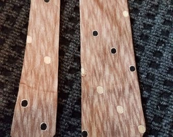 arrow tie, brown, polka dot tie, retro, hipster, patterned tie, necktie, vintage