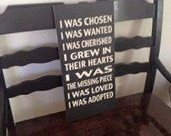 Wooden Family Adoption Love Quote