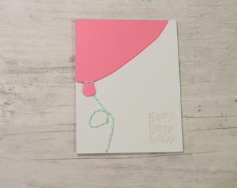 Girl Happy Birthday Card