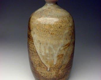 Listed Carson City Nevada Artist John Rotheram (1941-2013) studio pottery vase form Layered Glazes