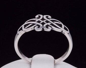 Irish Tribal Knot Ring Sterling Silver Ring