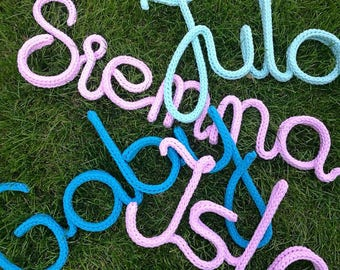 Personalized yarn letters