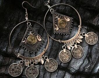 Stone of Divinity Hoop Earrings